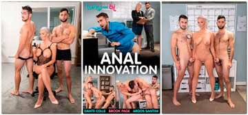 Brook Page, Dante Colle, Argos Santini - Anal Innovation (2019) HD 720p