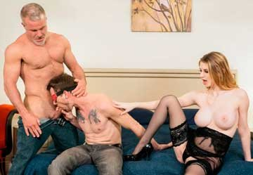 [BiSex] Nadya Nabakova, Dale Savage, Alex Killian - Guided Men-itation (2019) HD 720p