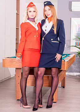 Lika Star, Marilyn Crystal - Air Hostesses Arrive Home with a Bang (2020) HD 2160p