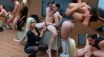 Brittany Andrews, Whitney Wright - Fuck Your Hot Student: Lose Your Balls (2020) HD 720p