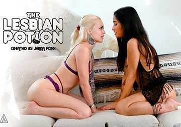 Alex Grey, Jenna Foxx, And Avery Black - The Lesbian Potion (2020) HD 1080p