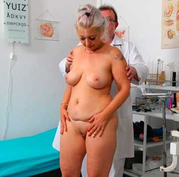 Dirty vaginal check-up of sexy busty GILF Veronique (2020) HD 1080p