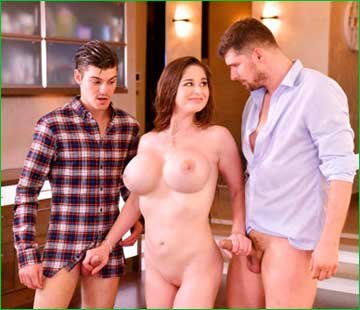 Cathy Heaven - Busty Milf Fucked by Two (2020) SiteRip