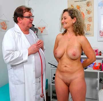Rectal speculum exam of busty MILF Ameli Monk (2020) HD 1080p