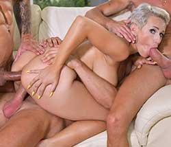 Angel Wicky - Busty Blonde's Three on One Fun (2020) HD 720p, 1080p