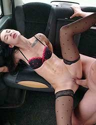 Freya Dee - Girl fucks in a taxi without restraint (2021) HD 1080p